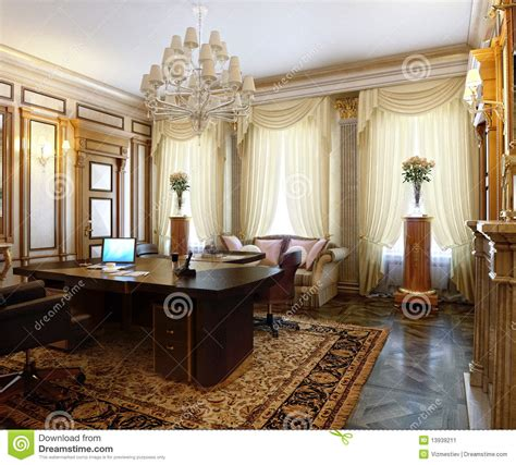 classic decorating style posh office in a classic style stock image image 13939211