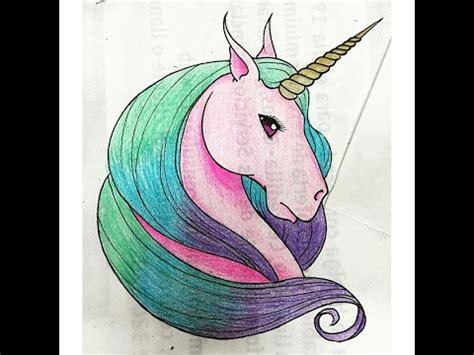 imagenes de unicornios a lapiz como dibujar un lindo unicornio kawaii youtube