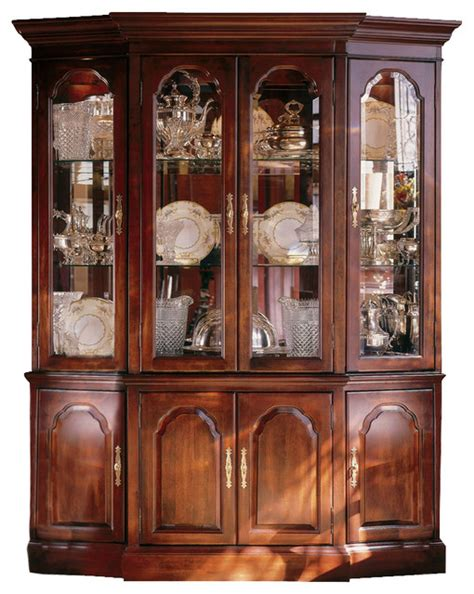 solid wood china cabinet kincaid carriage house solid wood canted china cabinet
