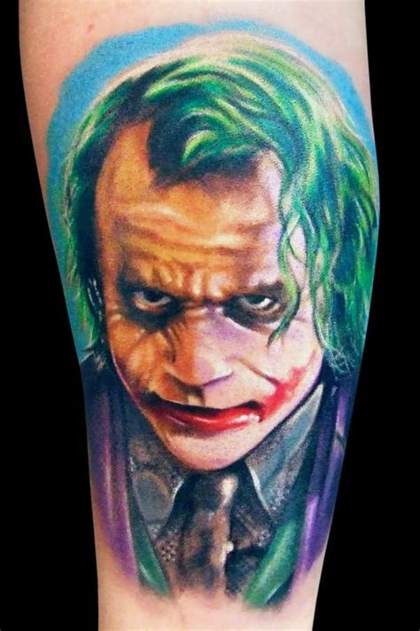 tattoo the joker heath ledger 30 awesome heath ledger joker tattoos