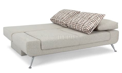 Amanda Brown Upholstery by Amanda Sofa Bed In Light Brown Fabric By Lifestyle