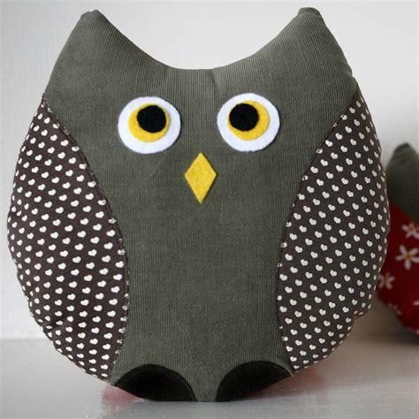 Handmade Owl Cushion - print handmade owl cushion by berry apple