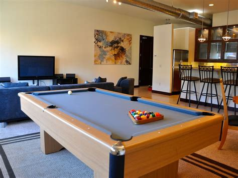 pool table in living room spacious 3 bedroom downtown loft private vrbo