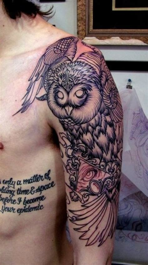 tattoo owl arm 40 cool owl tattoo design ideas with meanings
