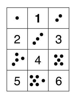 Math Dot Card Templates by Here S A Set Of Dot And Number Cards For A