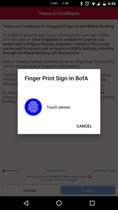 Bank Of America Fingerprint Background Check Bank Of America S Android App Now Supports Marshmallow S Fingerprint Sign In