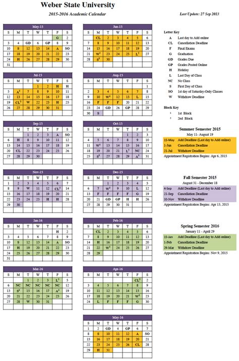 2015 2016 Academic Calendar 2015 2016 Approved