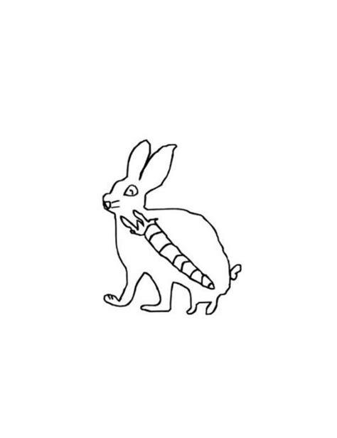 imagenes para colorear de rayos x dibujo de conejo con una zanahoria en el estomago para