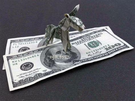 Hundred Dollar Bill Origami - 17 best images about dollar bill origami on