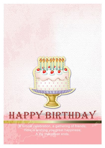 Birthday Card Template Free by Birthday Card Templates Greeting Card Builder
