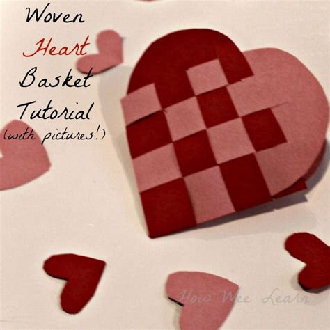 How To Make Woven Paper Hearts - woven basket a simple tutorial