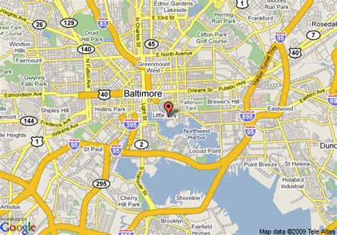 maryland map baltimore map of courtyard by marriott downtown baltimore baltimore