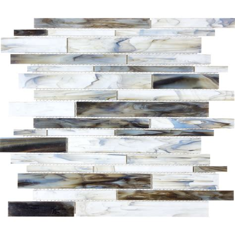glass backsplash tile lowes shop anatolia tile pacific pearl glass mosaic wall tile