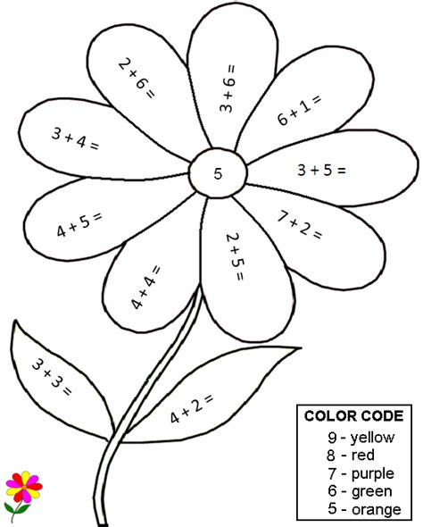 coloring worksheets for math free printable math
