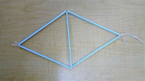 tetrahedron kite template a tetrahedral kite make41