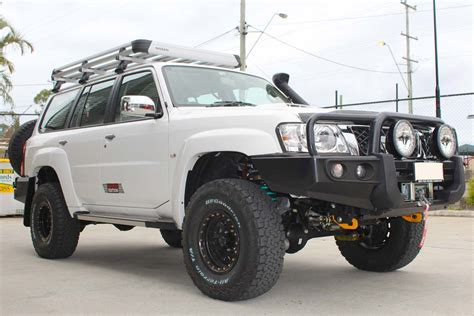 nissan safari lifted nissan patrol gu wagon 2 inch superflex lift kit 4x4 airbags