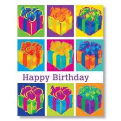 birthday card paintings pop birthday presents card for workplace birthdays