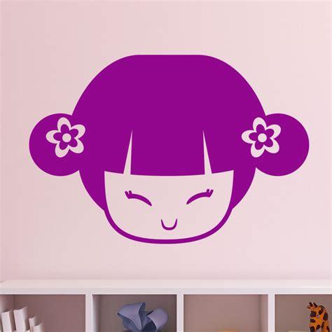 Dessin Fille Avec Couettes by Sticker Visage De Fille Avec Couettes Stickers Chambre
