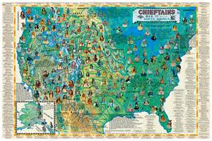 chieftains of america wall map poster