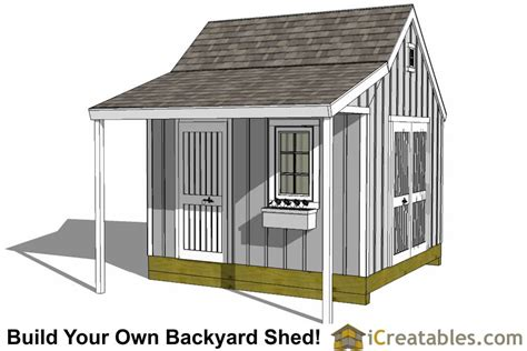 shed plans build   storage lean