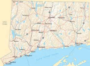 ct on us map connecticut map
