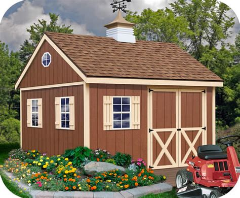 barns mansfield  wood storage shed kit