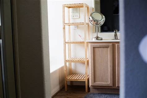open bathroom shelving open shelving bathroom organization tips