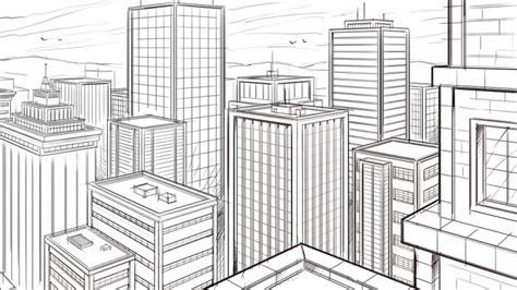 Maket 2d Profesi trik keren untuk menggambar dengan dua titik perspektif