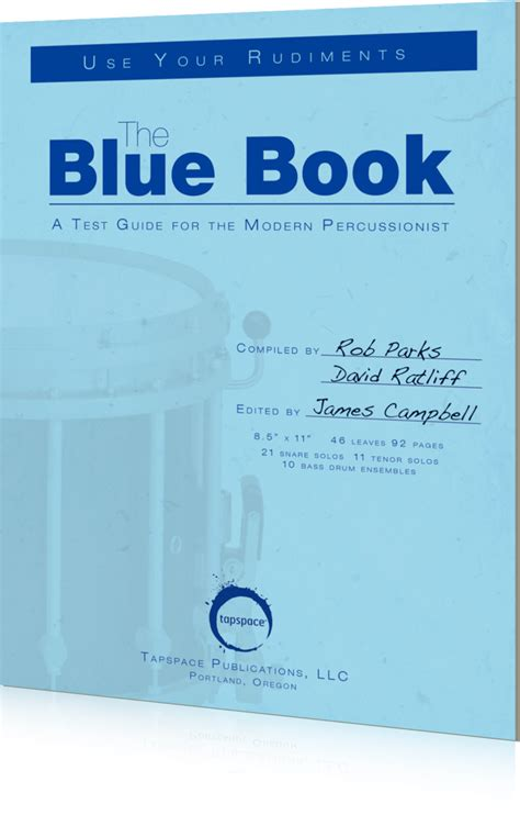 the blue book percussion books