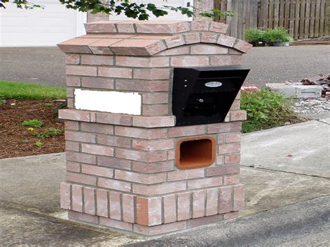 brick l post designs alpine mist brick mailboxes design wall mount mailbox