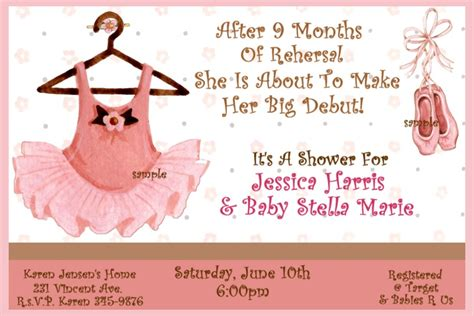 Ballerina Baby Shower Invitations Template Best Template Collection Ballerina Baby Shower Invitation Templates