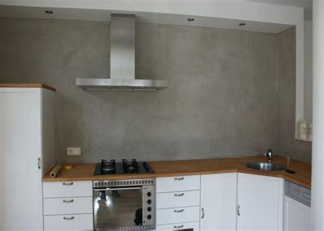 achterwand keuken spachtelputz de spaan showroom stucwerk keukens achterwanden project