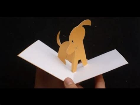 dog pop up card template 3d puppy pop up card tutorial