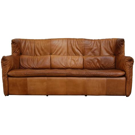 natural leather sofas gerard van den berrg natural leather sofa for sale at 1stdibs