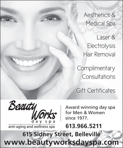caress electrolysis ltd hair removal salon in ontario beauty works day spa electrolysis laser clinic ads 3
