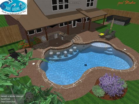 pool bar stools swimming pool with swim up bar tanning ledge flagstone
