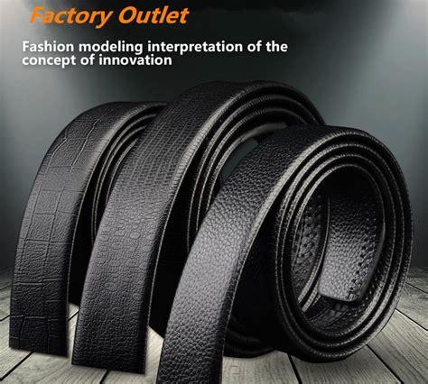 Tali Ikat Pinggang Untuk Kepala Buckle Otomatis Model 3 Black tali ikat pinggang kulit pola buffalo black jakartanotebook