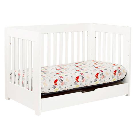 White Crib Convertible White Mercer Convertible Crib By Babyletto Rosenberryrooms