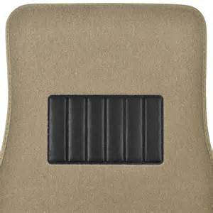 Plush Auto Floor Mats 5pc Set Plush Carpet Passenger Auto Floor Mats Front