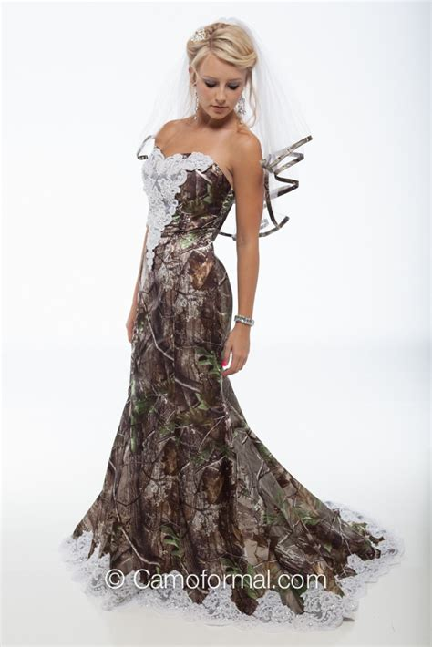 3887 quot quot camo mermaid wedding gown with sweep train
