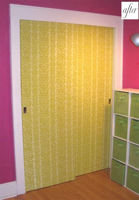before after susan s wallpaper doors design sponge