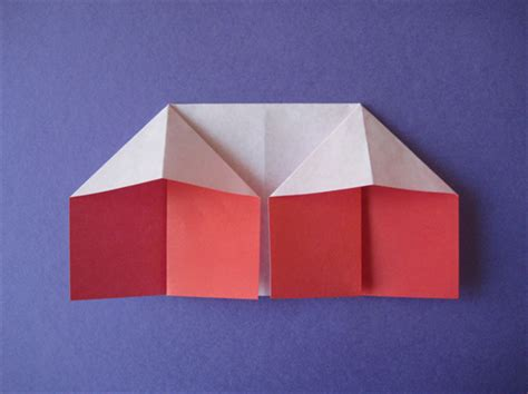 Paper House Origami - how to fold an origami house origami for children