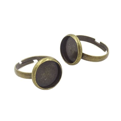 ring base for jewelry 100pcs adjustable ring base jewelry bezels vintage bronze