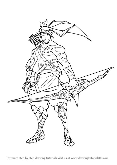overwatch genji coloring coloring pages coloring pages
