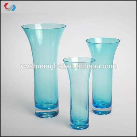 Colored Vases Wholesale by Wholesale Colored Flared Glass Vases Handblown Glass Bud