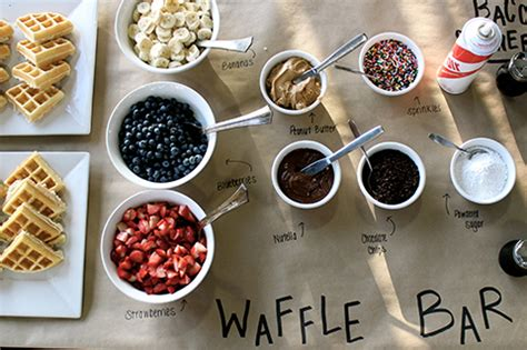 toppings for waffle bar time saving tricks for a big family breakfast