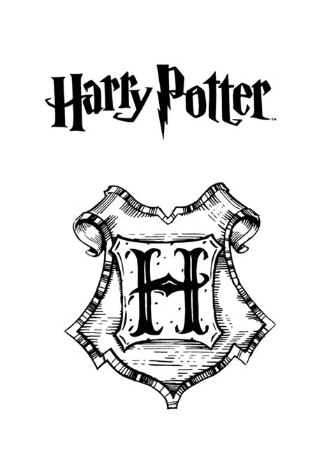 free harry potter crest coloring pages