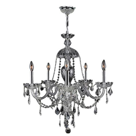 Chrome Chandeliers Worldwide Lighting Provence Collection 7 Light Polished Chrome And Clear Chandelier