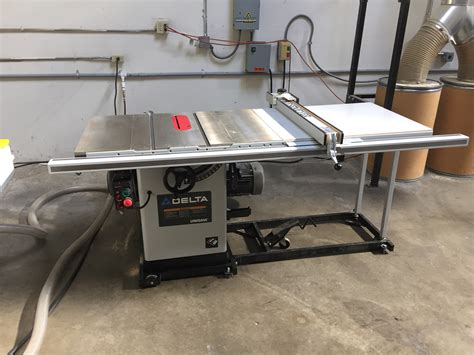 delta industrial table saw delta unisaw 10 quot table saw white pro tech machinery