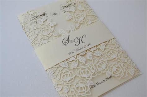 pre cut card for wedding invitations laser cut wedding invitations ivory laser cut wedding